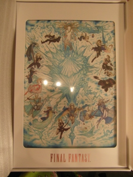 Amano's art is at the top of the box.