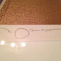 Amano's signature in pencil.