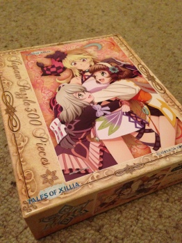 The girls 300 piece puzzle. The box is actually a lot smaller than it looks.