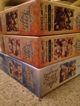 Side view of the three boxes.