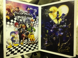 The stunning lithographs given away in a card cover/book.