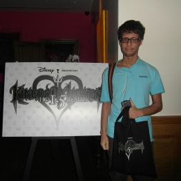 A close up of my mate beside the KH board at the entrance to the event.