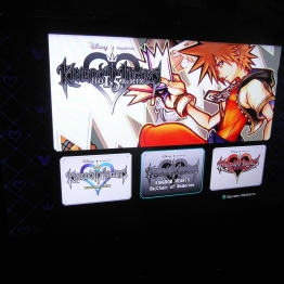 KH1.5 Remix start screen.