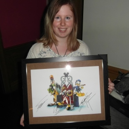 Another photo of me with the signed Nomura print. Had to resist escaping with it ;)