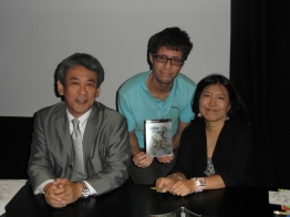 A fantastic photo of my friend with Shinji Hashimoto and Yoko Shimomura.