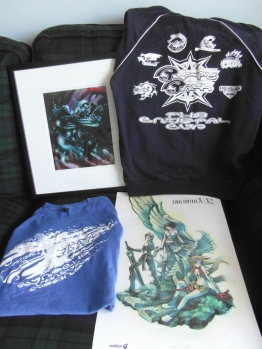 Group shot of all tbe merch!