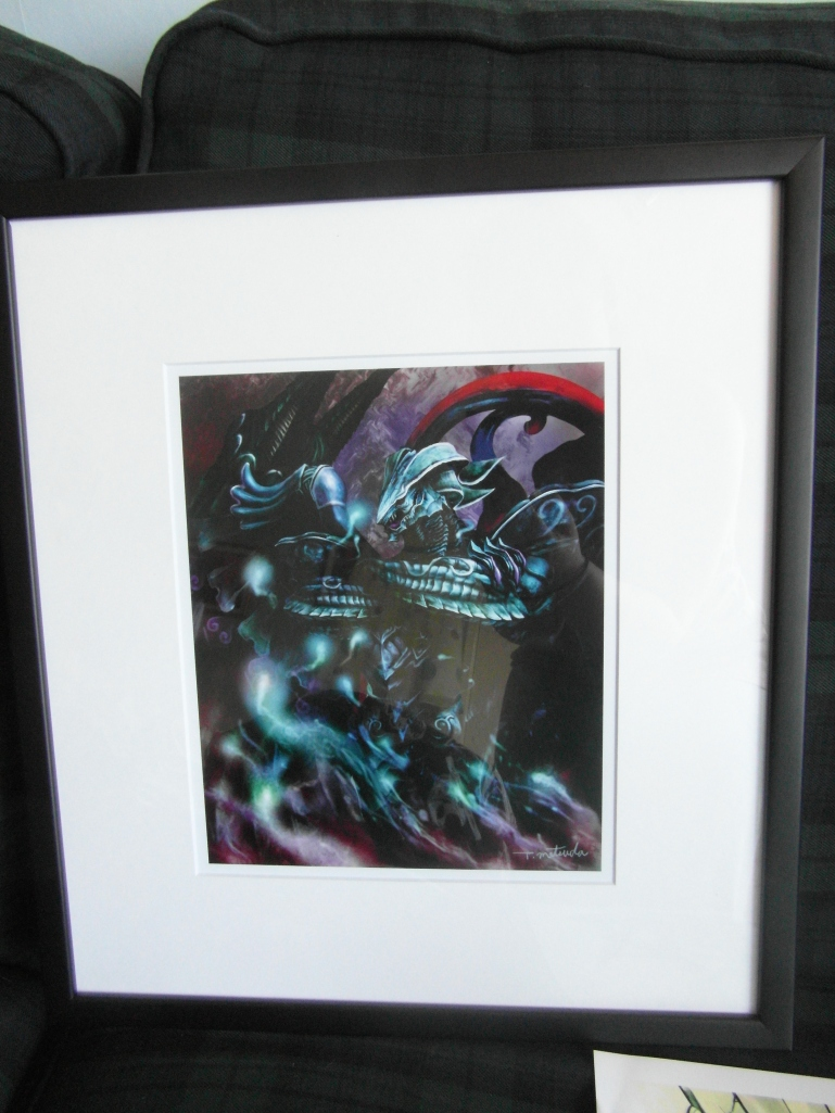 Bahamut art piece.